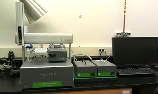 Picarro Isotopic Water Analyzer, L2130-i, which will allow for water isotope analysis