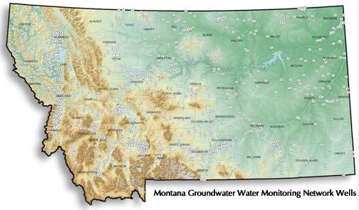 Groundwater Monitoring wells in Montana