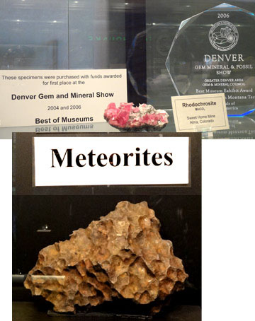 mineral museum display