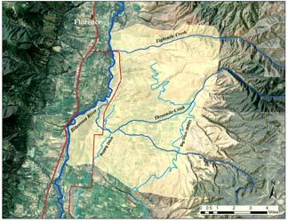 Florence area locaion map